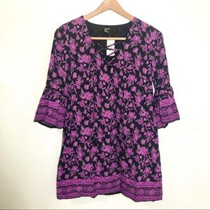 F21 NWT purple floral bell sleeve dress